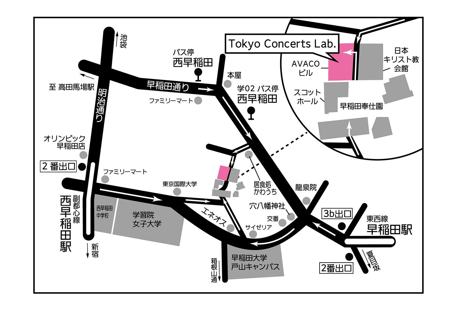 トーキョーコンサーツ・ラボ地図